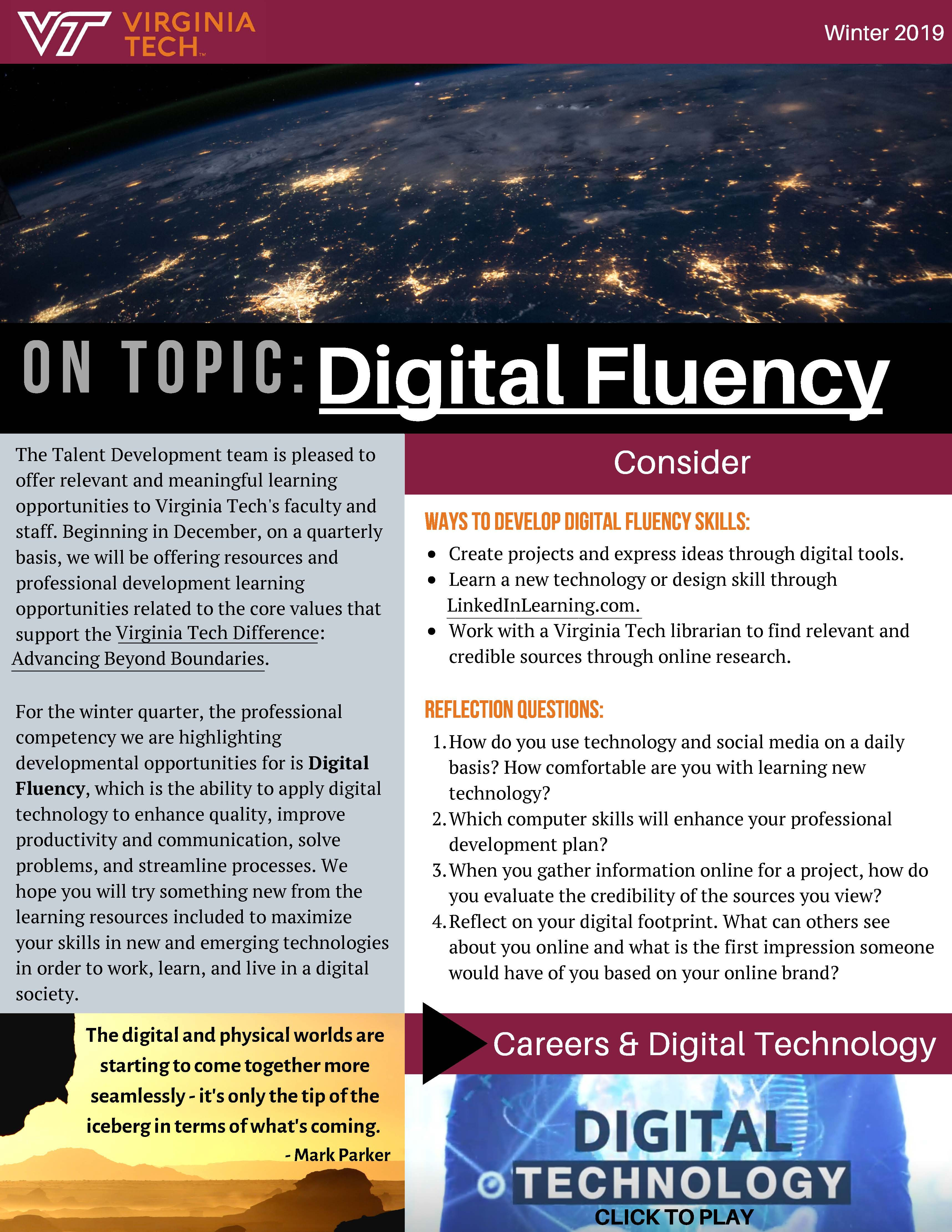 On Topic: Digital Fluency